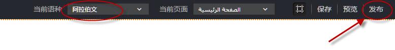 切換語種單擊發布按鈕